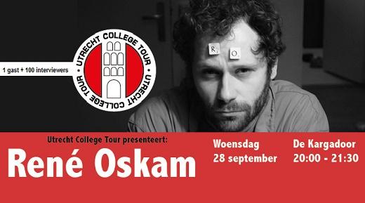 Wo 28 sep > René Oskam bij Utrecht College Tour